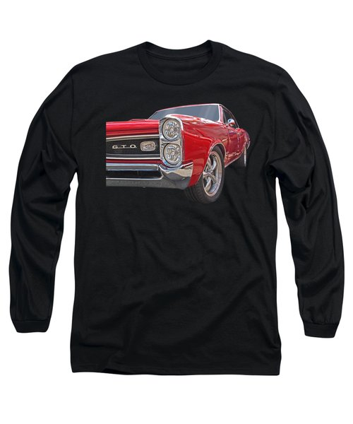 Red Gto Long Sleeve T-Shirt by Gill Billington