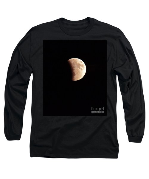 Red Harvest Super Moon Eclipse Long Sleeve T-Shirt