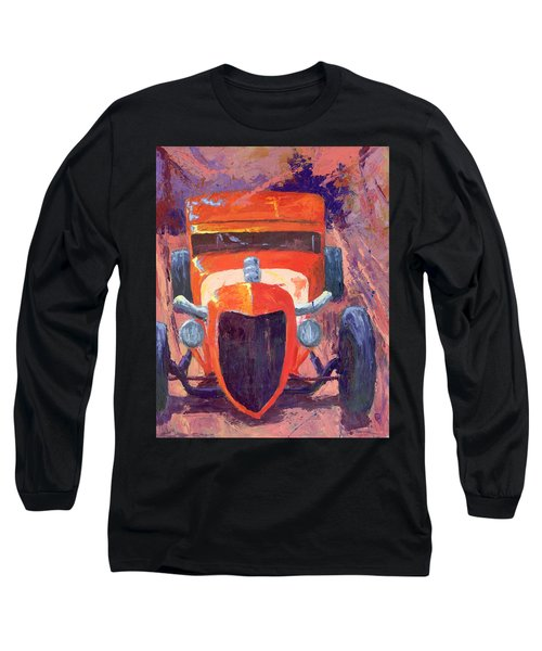 Red Hot Rod Sedan Long Sleeve T-Shirt