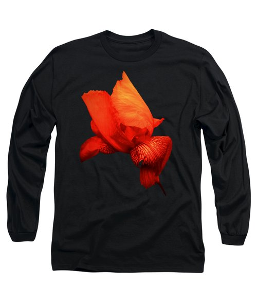 Red Iris Long Sleeve T-Shirt