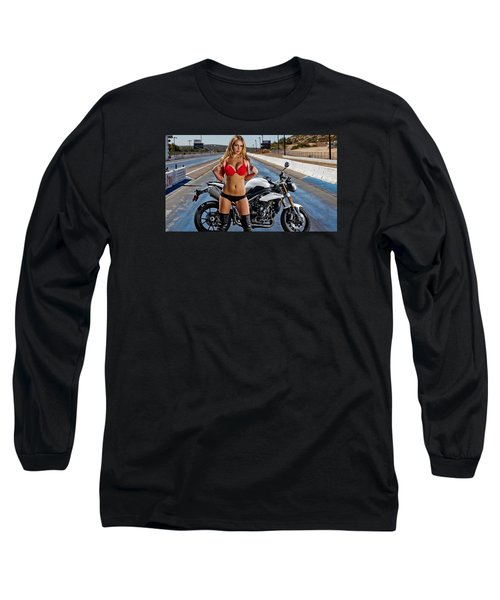 Red Is Not Always For Ducati Long Sleeve T-Shirt by Lawrence Christopher