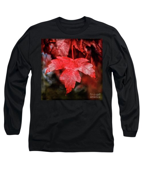 Long Sleeve T-Shirt featuring the photograph Red Leaf by Robert Bales
