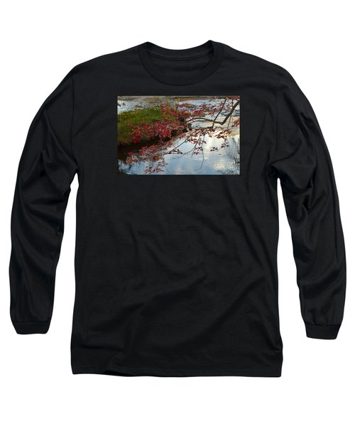 Red Leaves In Falls Park Creek Long Sleeve T-Shirt