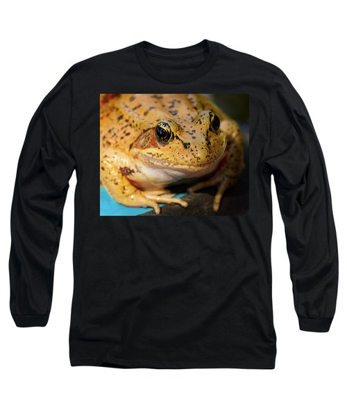 Long Sleeve T-Shirt featuring the photograph Red Leg Frog by Jean Noren