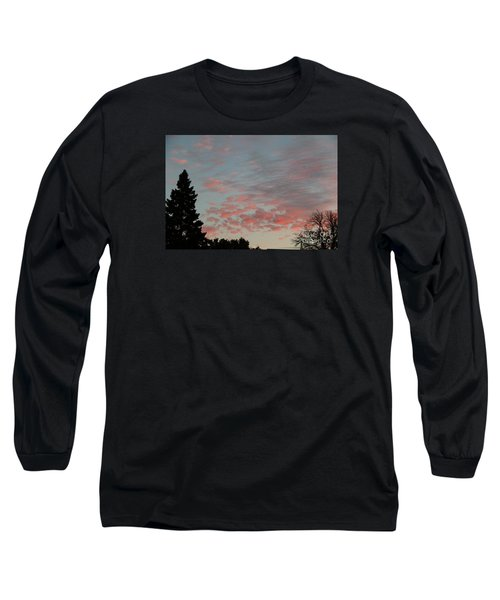Red Morning Cloud 2 Long Sleeve T-Shirt by Yumi Johnson