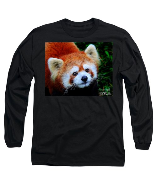 Long Sleeve T-Shirt featuring the photograph Red Panda by Davandra Cribbie
