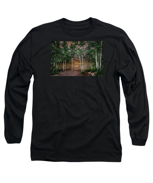 Red Rock Wall Long Sleeve T-Shirt by Mary Angelini