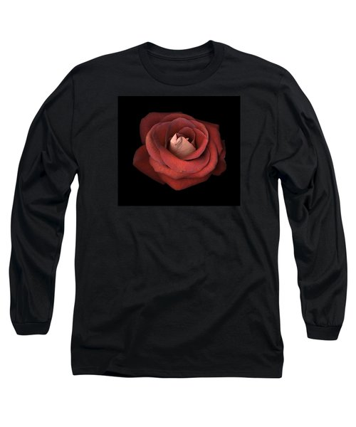 Red Rose Long Sleeve T-Shirt by Test