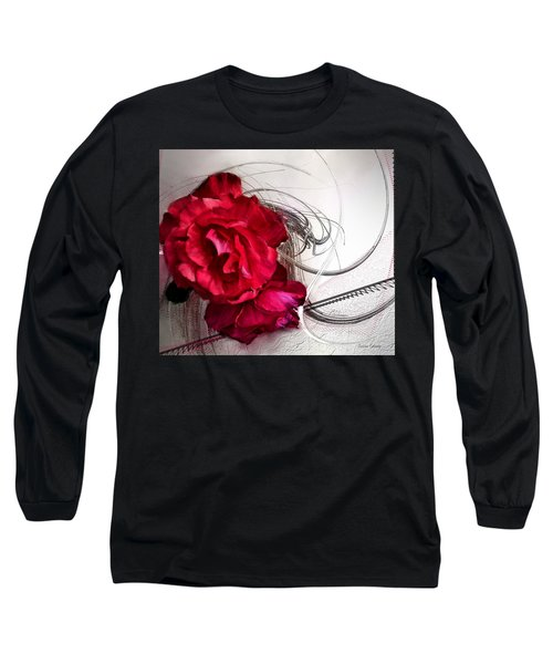 Red Roses Long Sleeve T-Shirt by Susan Kinney