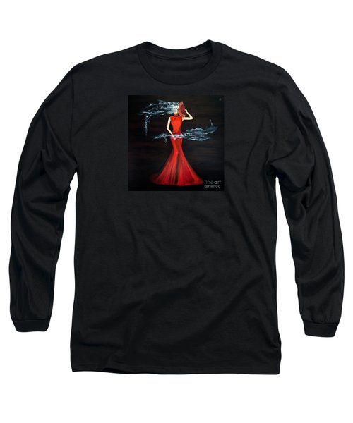 Scented Red Color Long Sleeve T-Shirt by Fei A