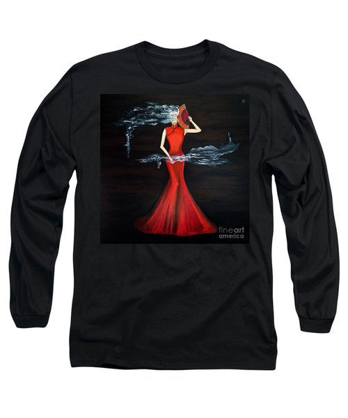 Scented Red Color Long Sleeve T-Shirt