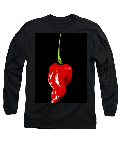 Red Scorpion Chilli Pepper Long Sleeve T-Shirt by Michael Canning