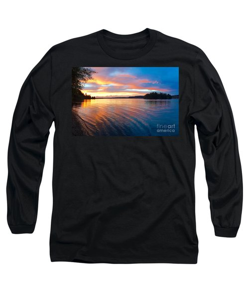 Red Sky At Night Long Sleeve T-Shirt by Sean Griffin