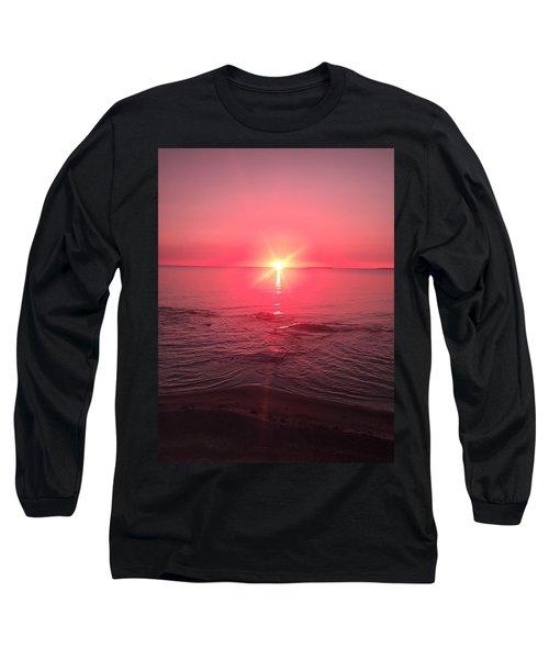 Red Sky Sunset Long Sleeve T-Shirt