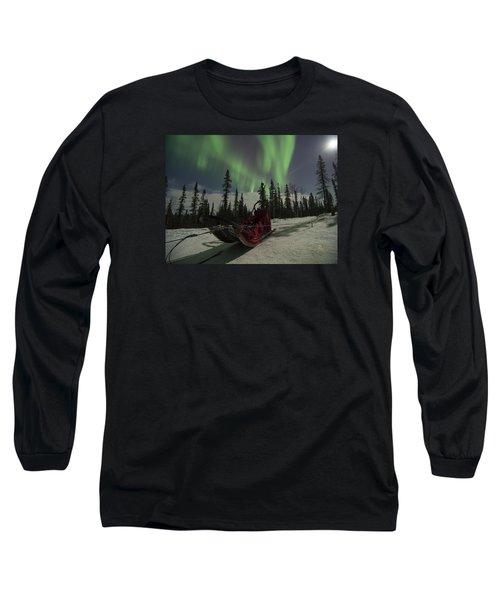 Red-sled Aurora Long Sleeve T-Shirt