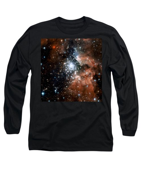 Red Smoke Star Cluster Long Sleeve T-Shirt by Jennifer Rondinelli Reilly - Fine Art Photography