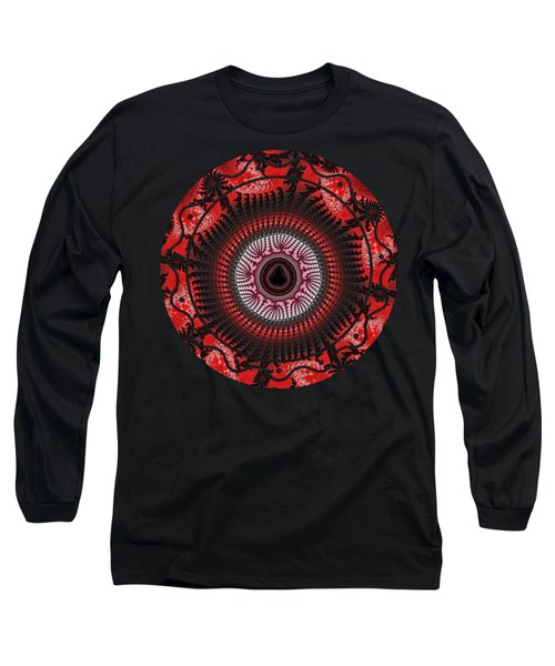 Red Spiral Infinity Long Sleeve T-Shirt