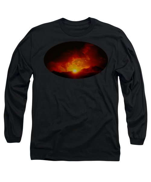 Red Sunset In Africa Long Sleeve T-Shirt
