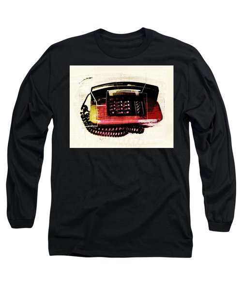 Hot Red Phone Long Sleeve T-Shirt by Susan Stone