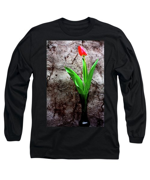 Long Sleeve T-Shirt featuring the photograph Red Tulip by Gray  Artus