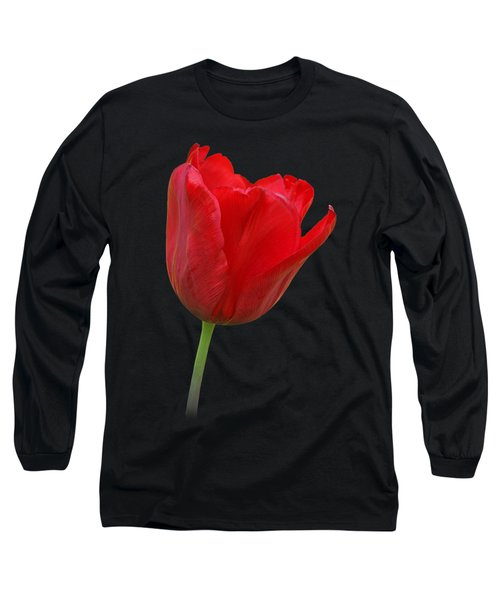 Red Tulip Open Long Sleeve T-Shirt