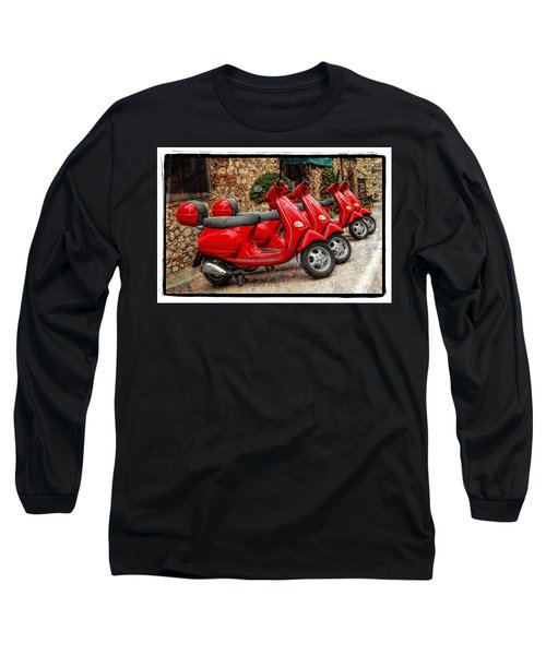 Red Vespas Long Sleeve T-Shirt