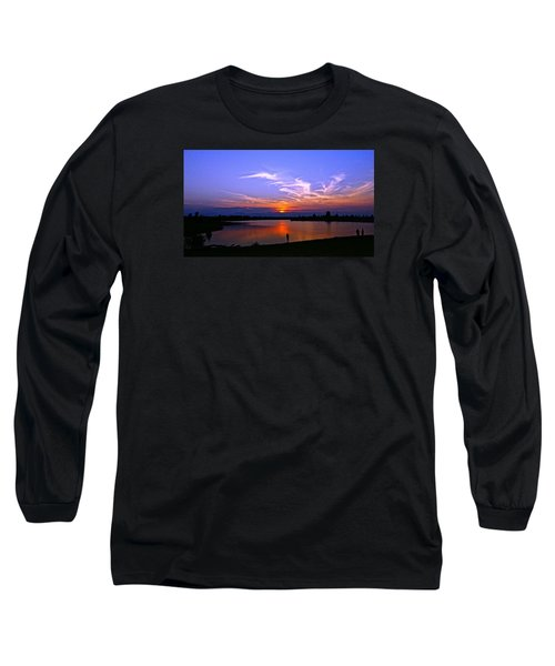 Red, White And Blue Long Sleeve T-Shirt by Eric Dee