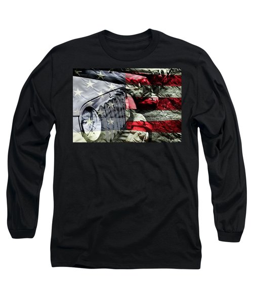 Red White And Jeep Long Sleeve T-Shirt
