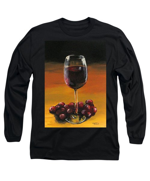 Red Wine And Red Grapes Long Sleeve T-Shirt
