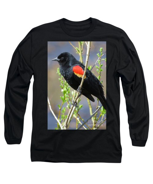 Red-winged Perch Long Sleeve T-Shirt