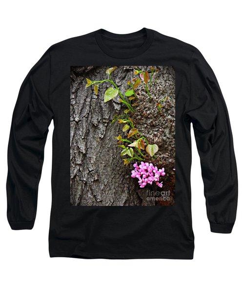 Redbud Flowers 2 Long Sleeve T-Shirt by Sarah Loft