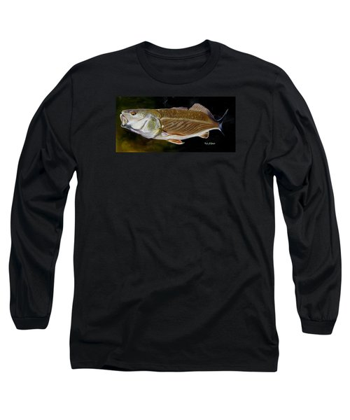 Long Sleeve T-Shirt featuring the painting Redfish Study  by Phyllis Beiser