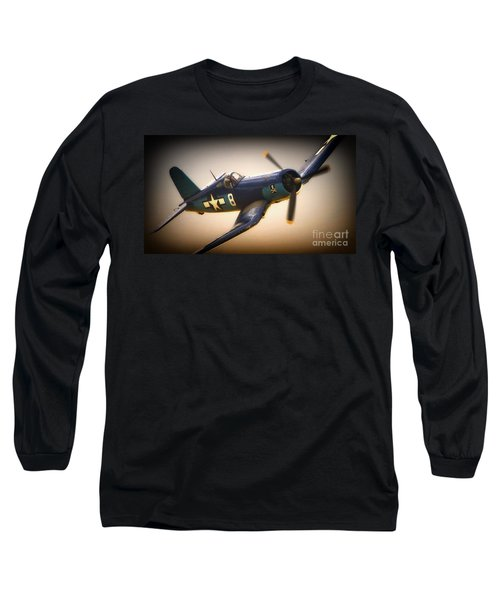 Redux For Clothing Vought F4u Corsair Jolly Roger No.8 Long Sleeve T-Shirt