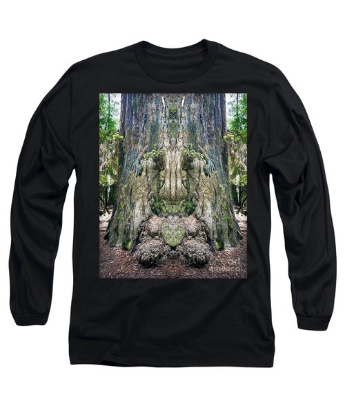Long Sleeve T-Shirt featuring the photograph Redwood Tree Face by Martin Konopacki
