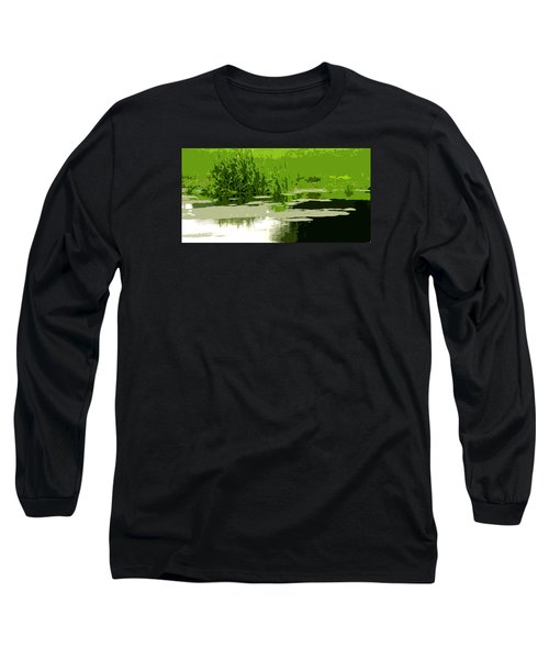 Reeds At The  Pond Long Sleeve T-Shirt by Spyder Webb