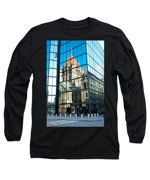 Reflecting On Religion Long Sleeve T-Shirt by Greg Fortier
