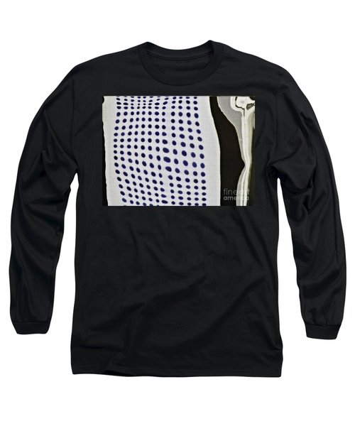 Long Sleeve T-Shirt featuring the photograph Reflection On 42nd Street 1 Negative by Sarah Loft