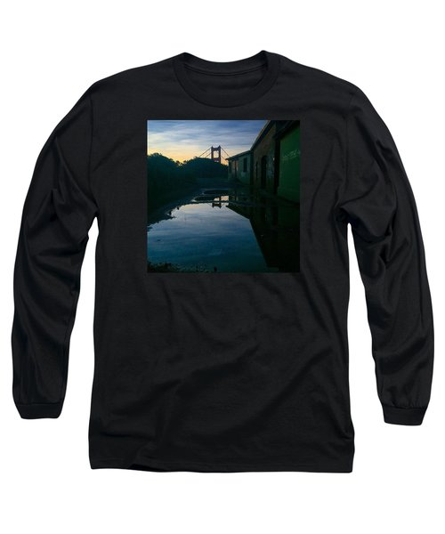 Reflecting On Past Wars Long Sleeve T-Shirt by Eugene Evon