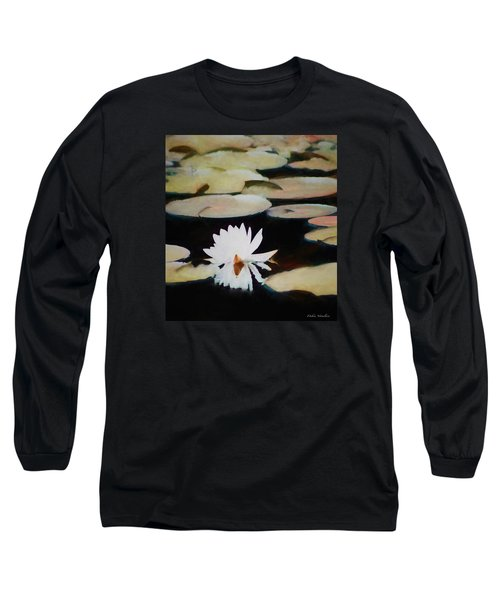 Reflection Pond Long Sleeve T-Shirt by Debra     Vatalaro
