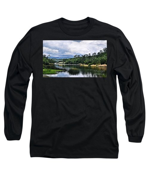 Reflections At Nicasio Reservoir  Long Sleeve T-Shirt