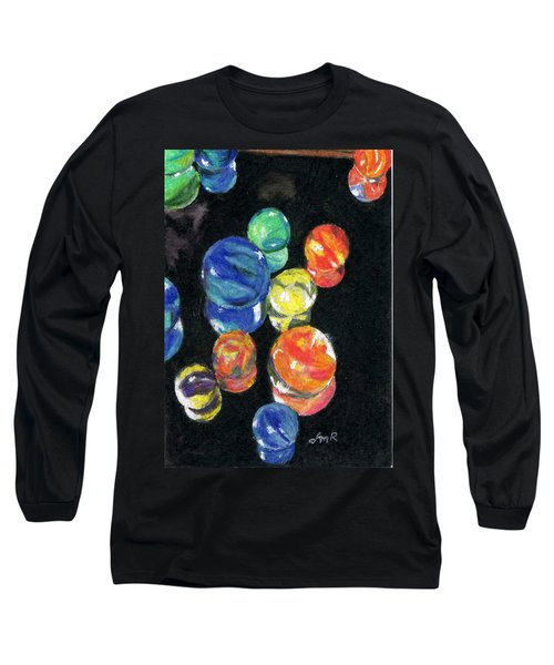 Reflections In Black Long Sleeve T-Shirt by Lynne Reichhart