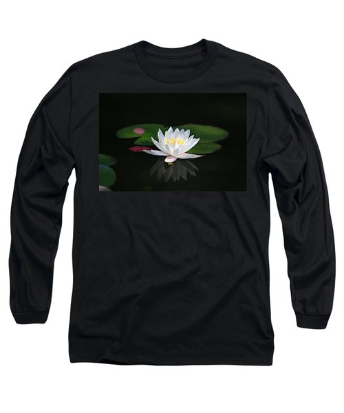 Reflections Of A Water Lily Long Sleeve T-Shirt