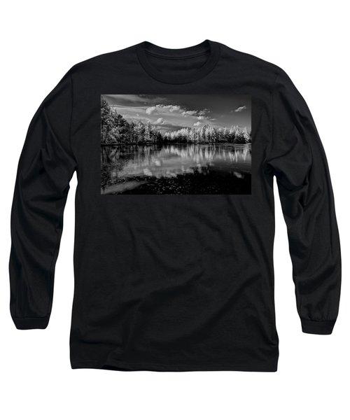 Reflections Of Tamaracks Long Sleeve T-Shirt by David Patterson