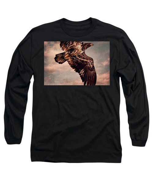 Regal Eagle Long Sleeve T-Shirt by Peggy Collins