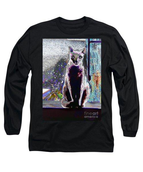 Regal Puss Long Sleeve T-Shirt by Expressionistart studio Priscilla Batzell