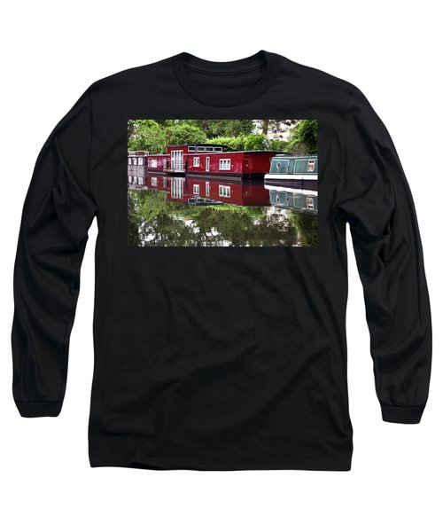 Long Sleeve T-Shirt featuring the photograph Regent Houseboats by Keith Armstrong