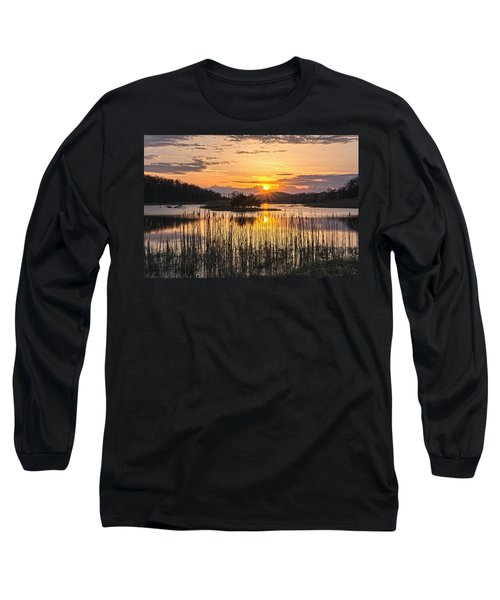Rejoicing Easter Morning Skies Long Sleeve T-Shirt by Angelo Marcialis