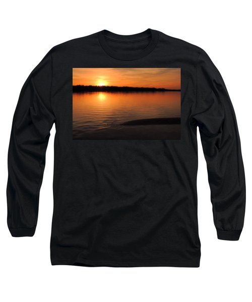 Relax And Enjoy Long Sleeve T-Shirt by Teresa Schomig