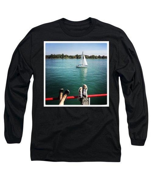 Relaxing Summer Boat Trip Long Sleeve T-Shirt