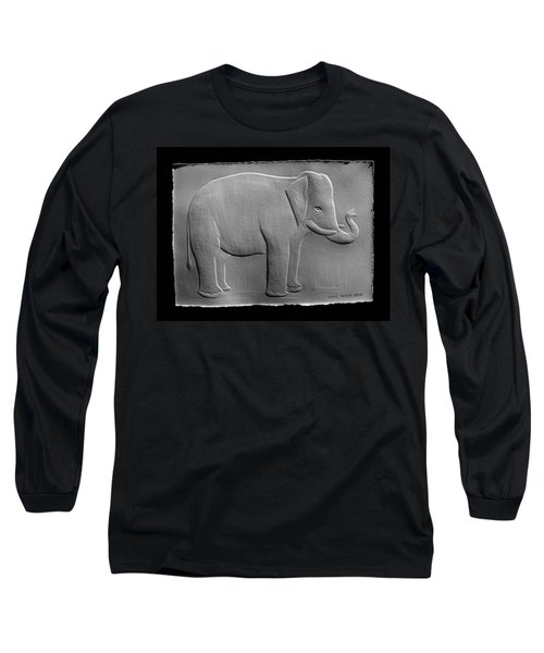 Relief Elephant Drawing Long Sleeve T-Shirt